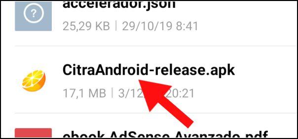 archivo APK de Citra Android