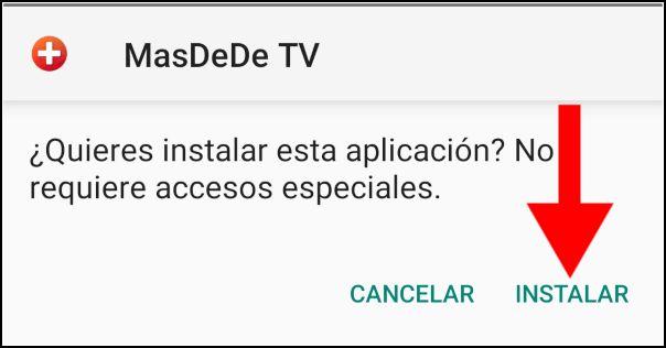 instalar Masdede TV