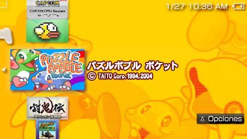 sección juegos de PSP