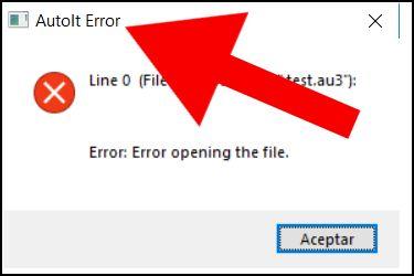 AutoIt Error, ejemplo