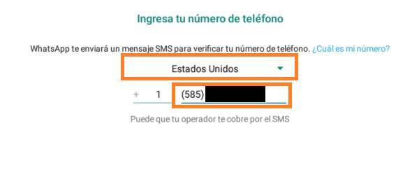 verificar WhatsApp con número virtual