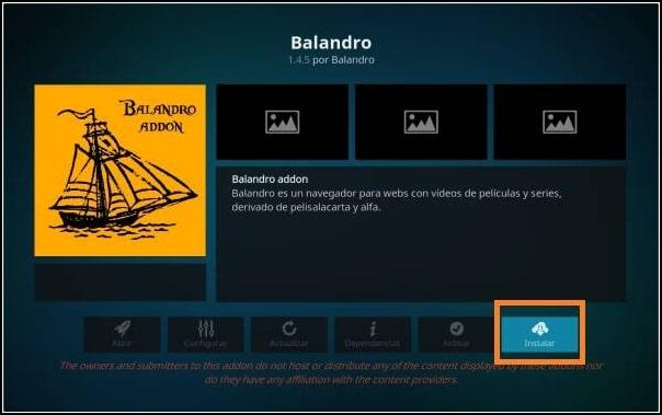 instalar addon Balandro