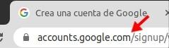 url para crear cuenta de Gmail
