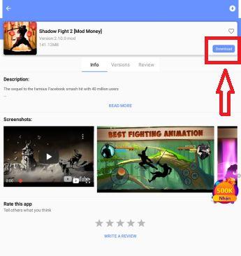 Descargar un juego desde la app de APPVN para Android 2