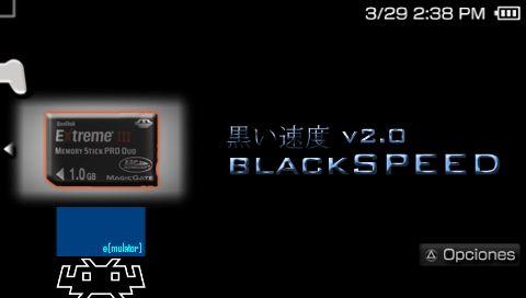 BlackSpeed - Aplicación para medir velocidad de memorystick de PSP