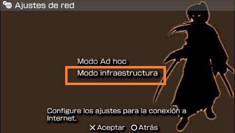PSP modo infraestructura
