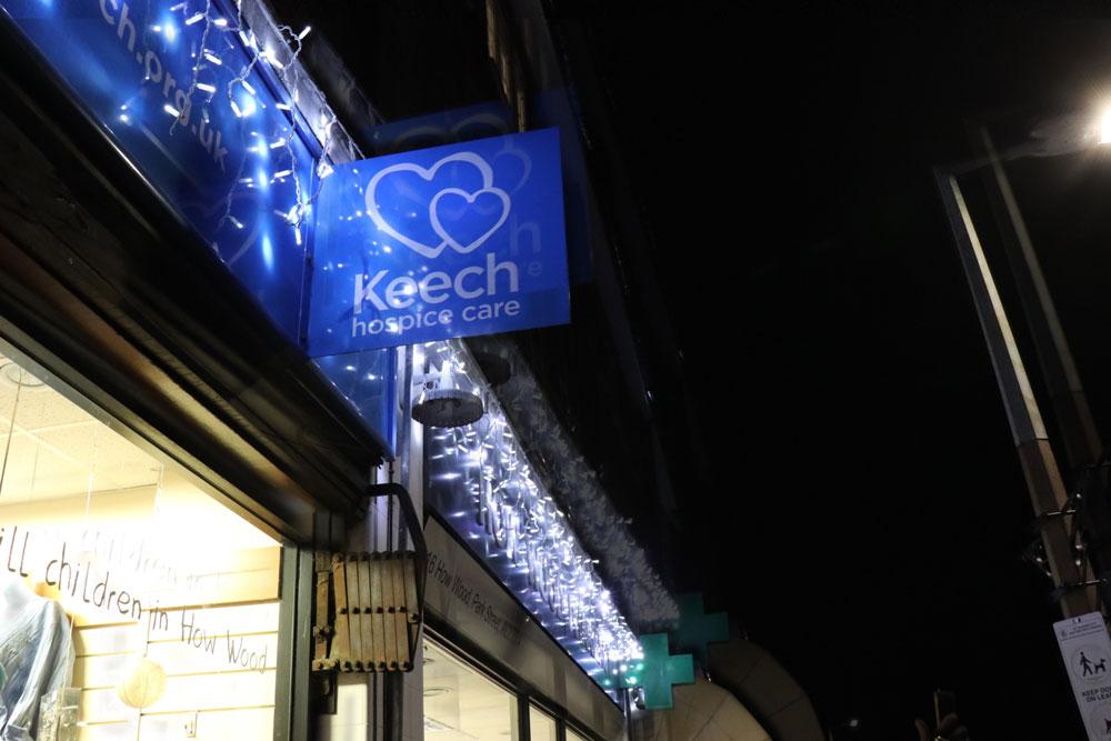 Keech Hospice Care in lights Dec 2019