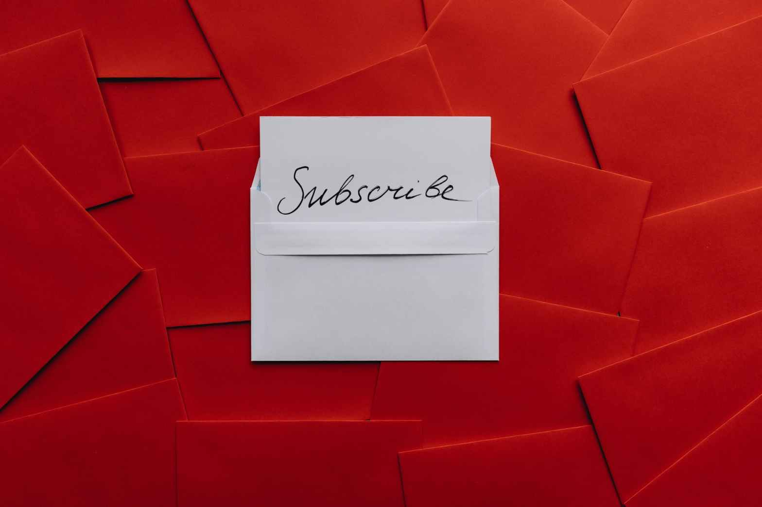 card on top of red envelopes