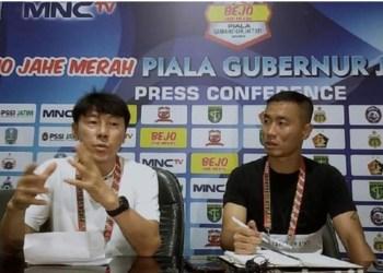 Shin Tae-yong Pantau Pemain di Piala Gubernur Jatim