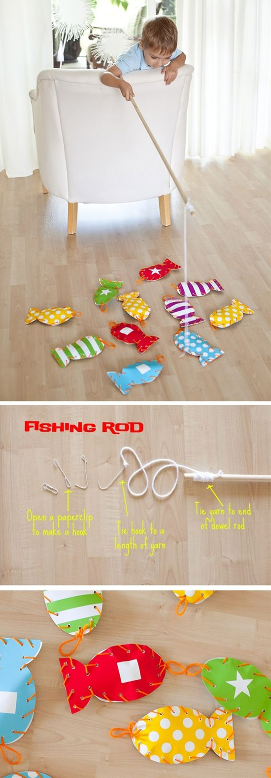 DIY Gone Fishing Matching Game for Kids Tutorial via Frog Prince Paperie