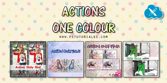 Actions One Colour Photoshop