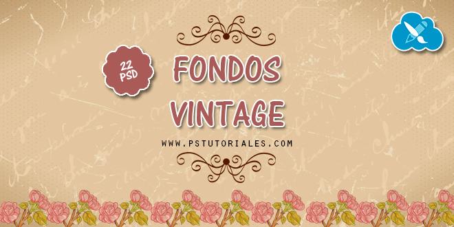 22 PSD de fondos vintage gratis
