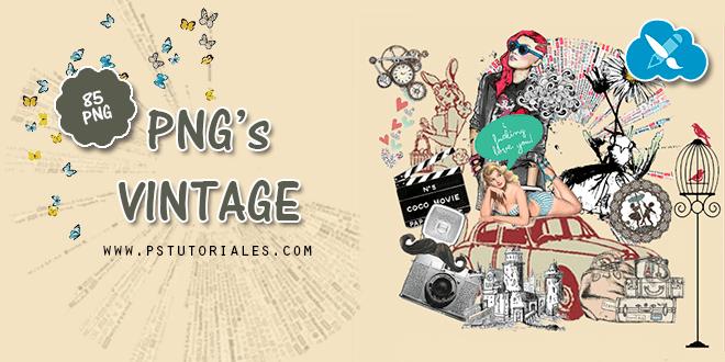 85 PNGs Vintage