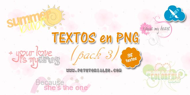 Textos PNG para blends – Pack 3