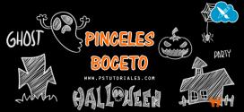 Pinceles de bocetos de Halloween
