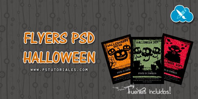 Flyers de Halloween en PSD