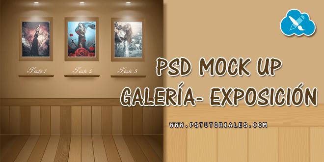 PSD Mockup de galería