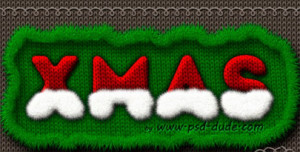 santa hat text effect