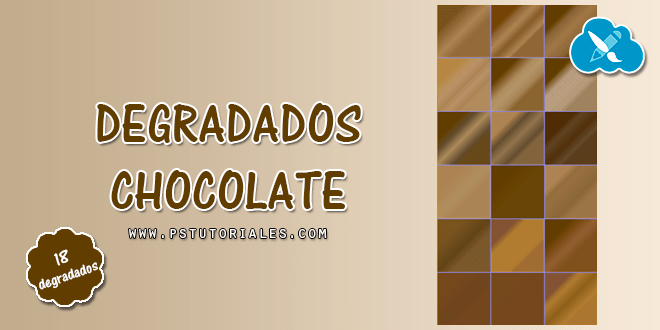 18 degradados chocolate