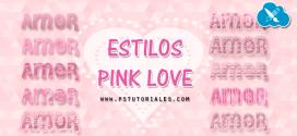 Estilos Pink Love para Photoshop