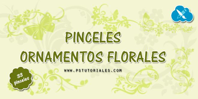 33 pinceles ornamentales de flores