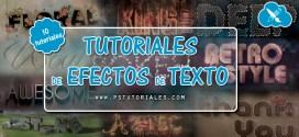 10 Tutoriales de Efectos de Texto