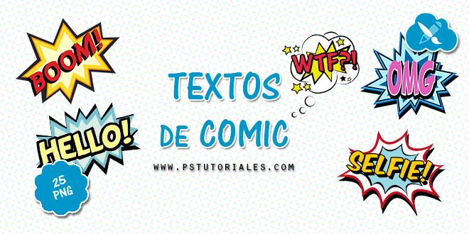 25 textos de comic