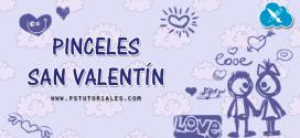 22 pinceles San Valentín