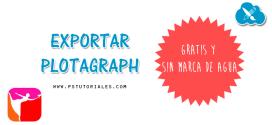 Como exportar Plotagraph gratis