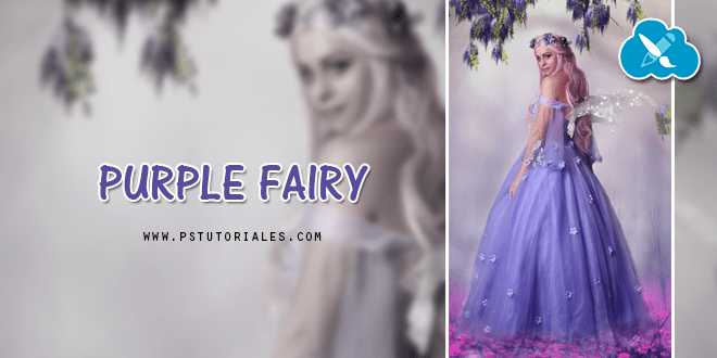 Purple fairy – Photoshop Tutorial