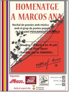 Homenatge a Marcos Ana a Sabadell @ Casal Pere IV | Sabadell | Catalunya | España