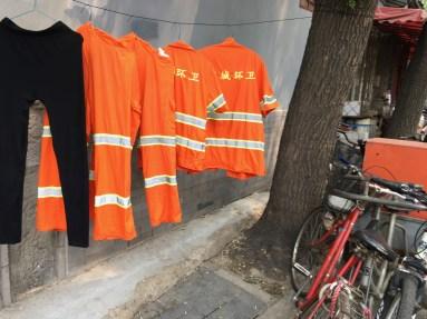 Uniforms on Clothesline