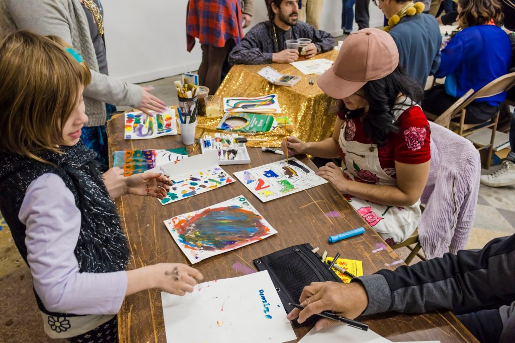 Artist Peggy Noland during Hot Hands 2017. All photos by Timothy Amundson.