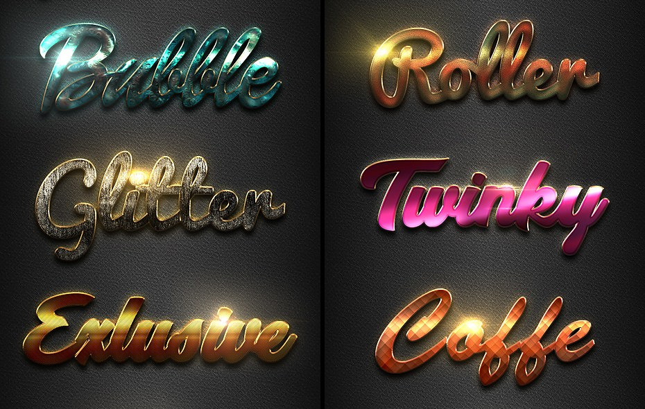 Download 240 Premium Photoshop Text Effect Styles