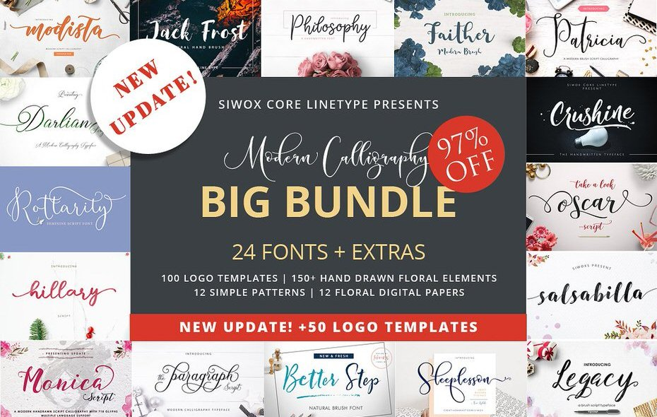 The Ultimate Calligraphy Design Bundle – All You'll Ever Need!