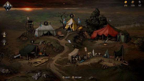 Thronebreaker: The Witcher Tales Camp