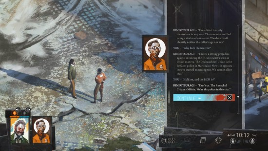Disco Elysium: The Final Cut Asking Kim Who the RCA Is