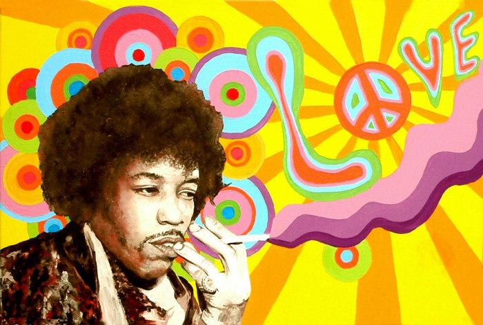jimi-hendrix The History of Psychedelic Art