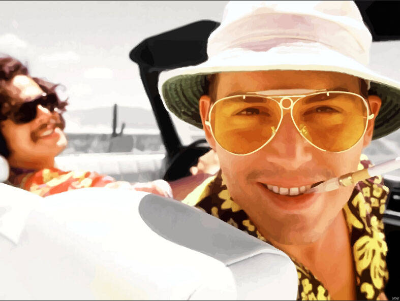 psychedelic movies Fear and Loathing in Las Vegas poster
