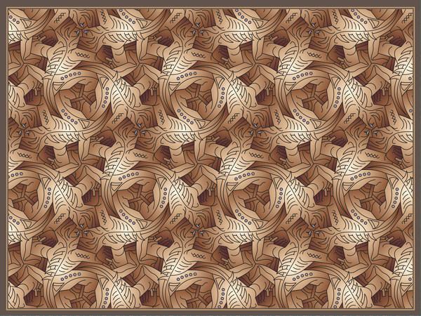 Escher paintings lizard