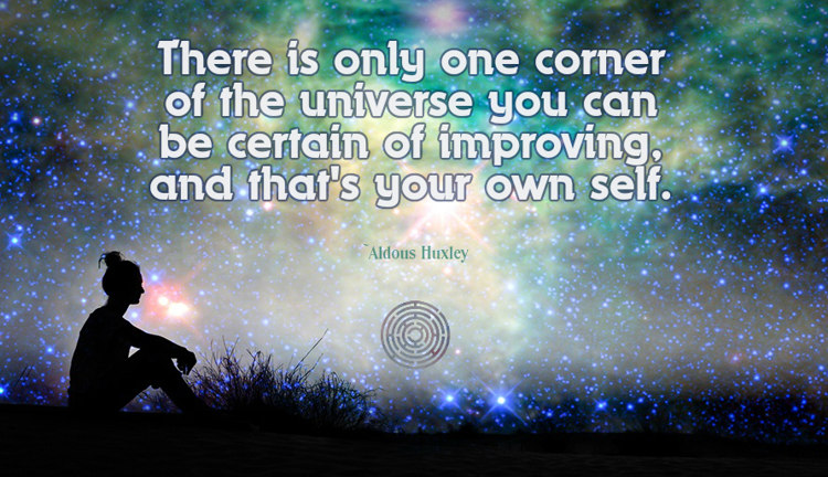 Aldous Huxley there is only one corner