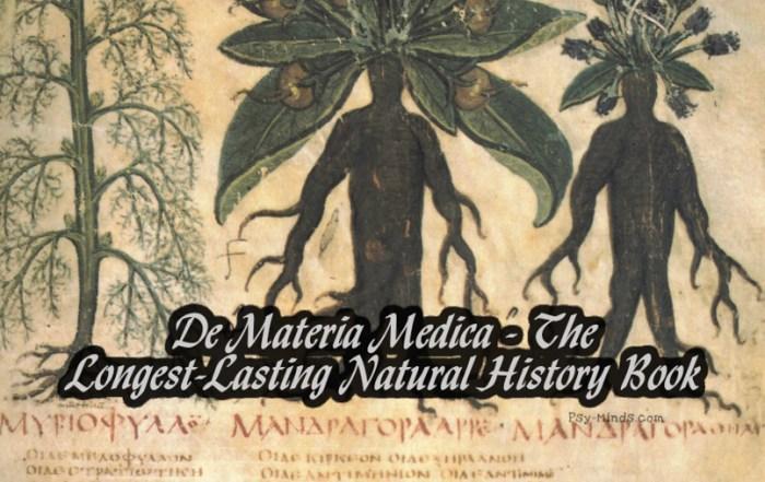 De Materia Medica - The Longest-Lasting Natural History Book