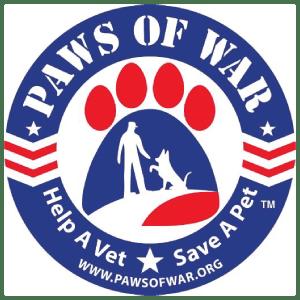 paws of war veteran ready organization logo