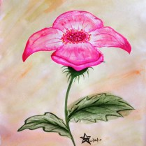 Just an attempt at a watercolour painting of a flower of my own creation.