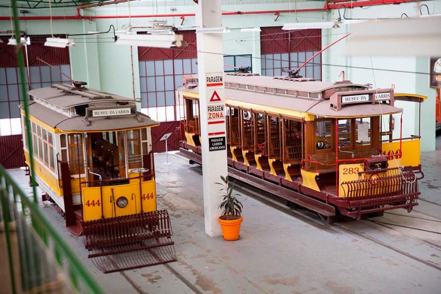 Starsze tramwaje w Museu da Carris