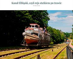 Zobacz film i relację z poprzedniego rejsu Kanałem Elbląskim – statkiem po trawie