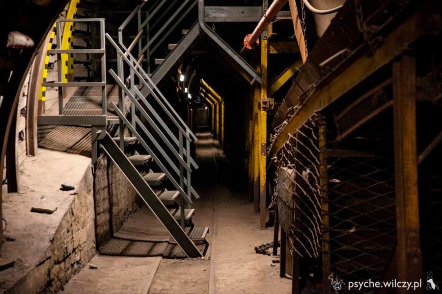 Kopalnia Guido - korytarz przy podajniku taśmowym