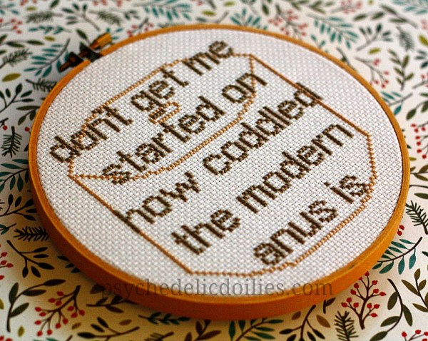 Dwight Schrute Cross Stitch Quote - FREE Pattern - Psychedelic Doilies