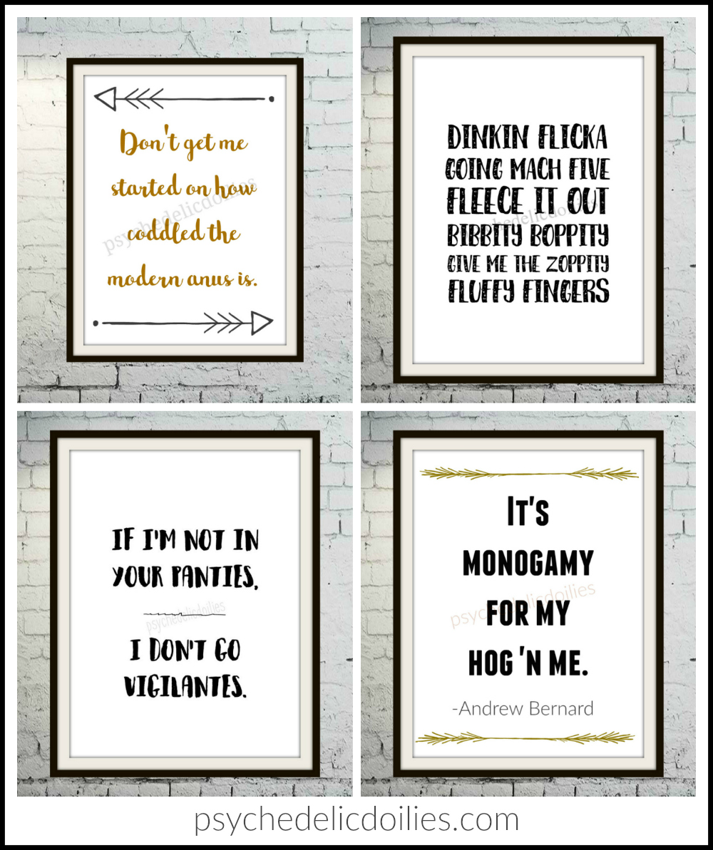 Funny Office Quotes Prints