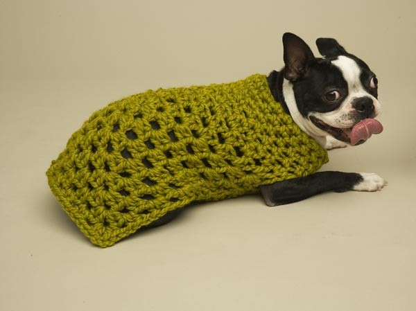 Large Granny Square Crochet Dog Sweater Pattern